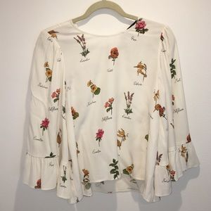 Zara viscose floral blouse